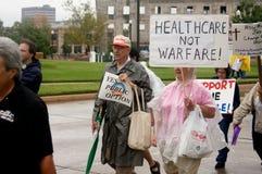 Manifestantes del cuidado médico Fotos de archivo libres de regalías