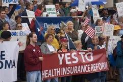 Manifestantes del cuidado médico Imágenes de archivo libres de regalías