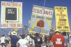 Manifestantes del derecho religioso Foto de archivo