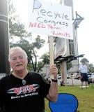 Manifestantes del partido de té Foto de archivo