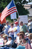 Manifestantes en la reunión 2 Fotografía de archivo
