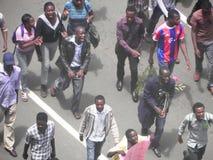 Manifestantes en Narobi Fotos de archivo