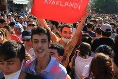 Manifestantes jovenes fotos de archivo libres de regalías