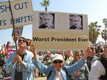 Manifestantes pacifistas Fotografía de archivo