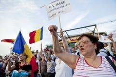 Manifestantes rumanos Imágenes de archivo libres de regalías