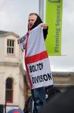 Manifestatie EDL in Blackburn Stock Fotografie