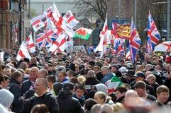 Manifestatie EDL in Blackburn Royalty-vrije Stock Fotografie