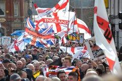 Manifestatie EDL in Blackburn Royalty-vrije Stock Afbeelding