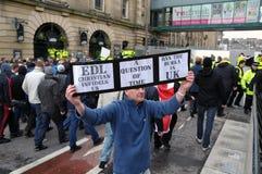 Manifestatie EDL in Blackburn Royalty-vrije Stock Foto
