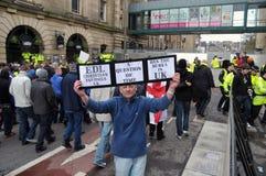 Manifestatie EDL in Blackburn Stock Foto's