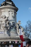 Manifestation against terrorism in Paris. Stock Photos