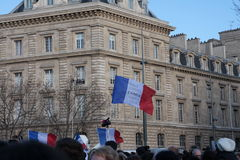Manifestation against terrorism in Paris. Royalty Free Stock Photo