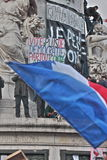 Manifestation against terrorism in Paris. Stock Image