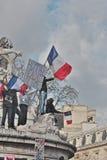 Manifestation against terrorism in Paris. Royalty Free Stock Photos
