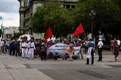 Manifestation av protesten Royaltyfri Foto