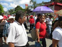 Manifestation in Chilpancingo Guerrero Mexico. Photo of protest marchers in chilpancingo guerrero mexico on 1/23/18. This is known as the manifestation and they Stock Photo
