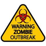 Manifestation d'avertissement de zombi image libre de droits