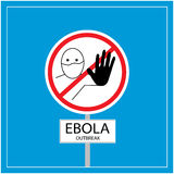 Manifestation d'Ebola Photo stock
