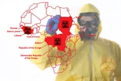Manifestation d'Ebola Photos stock