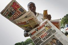 Manifestation d'Ebola Image libre de droits