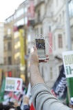 Manifestation A de Mavi marmara Images libres de droits