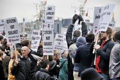 Manifestation de républicanisme Images libres de droits