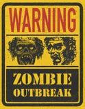 Manifestation de zombi. Tiré par la main. Vecteur Eps8 Image stock