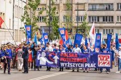 Manifestation för Maj dag Arkivbild