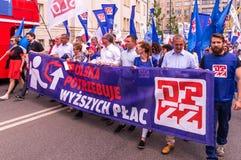 Manifestation för Maj dag Arkivfoton