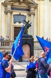 Manifestation för Maj dag Arkivbilder