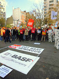 Manifestation in front of BASF, France. Stock Images