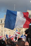 Manifestation on Republic Square in Paris. Stock Photo