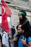 Manifestation VIII de Mavi marmara Photographie stock libre de droits