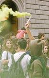 manifestationprotest arkivfoton