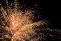 Manifestazione aerea dei fuochi d'artificio Fotografie Stock