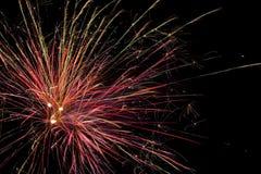 Manifestazione aerea dei fuochi d'artificio Fotografie Stock Libere da Diritti