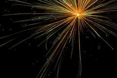 Manifestazione aerea dei fuochi d'artificio Fotografia Stock Libera da Diritti