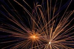 Manifestazione aerea dei fuochi d'artificio Immagini Stock Libere da Diritti