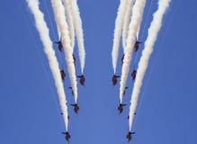 Manifestazione aerea rossa delle frecce di Royal Air Force Fotografie Stock Libere da Diritti
