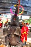 Manifestazione Ayutthaya, Tailandia dell'elefante Immagini Stock