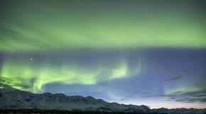 Manifestazione crepuscolare d'Alasca dell'aurora boreale Fotografia Stock Libera da Diritti