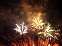 Manifestazione dei fuochi d'artificio Immagini Stock Libere da Diritti