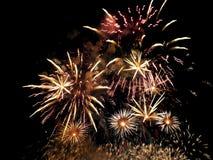 Manifestazione dei fuochi d'artificio Immagini Stock