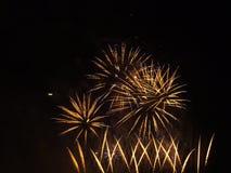 Manifestazione dei fuochi d'artificio Fotografia Stock