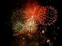 Manifestazione dei fuochi d'artificio Fotografie Stock