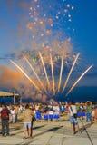 Manifestazione dei fuochi d'artificio Fotografie Stock Libere da Diritti