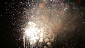 Manifestazione dei fuochi d'artificio di festa dell'indipendenza video d archivio