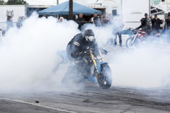Manifestazione del fumo della bici Fotografie Stock Libere da Diritti