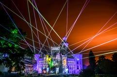Manifestazione del laser fotografie stock libere da diritti