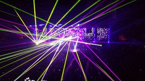 Manifestazione del laser Fotografia Stock